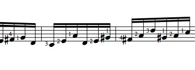 Bach Lute Suite 3, excerpt