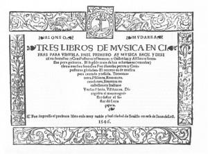 Mudarra Tres libros de musica en cifras para vihuela